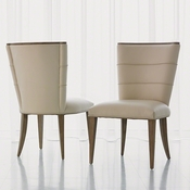 Studio-A by Global Views Adelaide Side Chair-Beige Leather