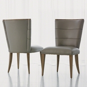 Studio-A by Global Views Adelaide Side Chair-Grey Leather