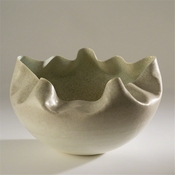 Studio A by Global Views Cambrian Bowl-Ivory & Sand