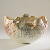 Studio A by Global Views Cambrian Bowl-Orange & Blue