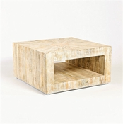 Studio-A by Global Views Driftwood Coffee Table-Square