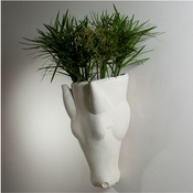 Studio-A by Global Views Equus Wall Vase-Limestone Finish