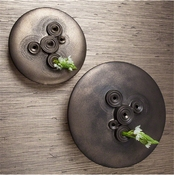 Studio-A by Global Views Galileo Disk-Wall Mounted-Bronze Reactive Glaze-Small