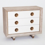 Studio A by Global Views Geneva Three-Drawer Chest
