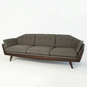 Studio A by Global Views Greta Sofa-Alvaro Grey