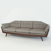 Studio A by Global Views Greta Sofa-Margo Pewter