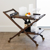 Studio-A by Global Views Hemingway Bar Cart w/Removable Top Tray