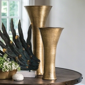 Studio-A by Global Views Indira Vase-Antique Brass-Sm