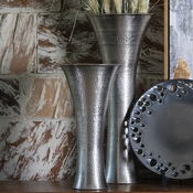 Studio-A by Global Views Indira Vase-Antique Nickel-Sm