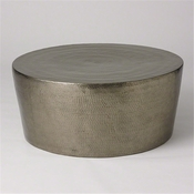 Studio-A by Global Views Izmir Hammered Cocktail Table-Nickel