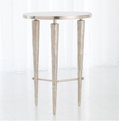 Studio A by Global Views Jasper Accent Table-Nickel