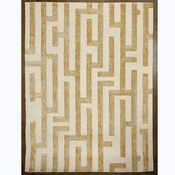 Studio-A by Global Views Labyrinth Rug-Golden-5' x 8'