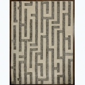 Studio-A by Global Views Labyrinth Rug-Grey-5' x 8'