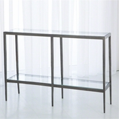 Studio A by Global Views Laforge Console-Iron & Brass Braising