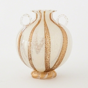 Studio A by Global Views Lido Vase-Amber Granilla