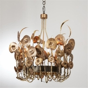 Studio-A by Global Views Lilium Chandelier-Antique Brass