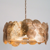 Studio-A by Global Views Lily Pad Pendant-Antique Brass
