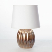 Studio-A by Global Views Mini Amber Ribbed Glass Lamp