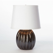 Studio-A by Global Views Mini Black Ribbed Glass Lamp