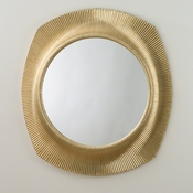 Studio-A by Global Views Opera Fluted Mirror-Brass
