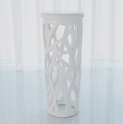 Studio-A by Global Views Palm Beach Pedestal-Matte White