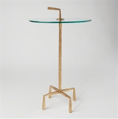 Studio-A by Global Views Quad Pod Accent Table-Gold Leaf