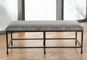 Studio A by Global Views Quad Pod Bench-Natural Iron w/Muslin Cushion