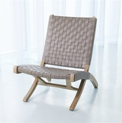 Studio A by Global Views Safari Chair-Grey
