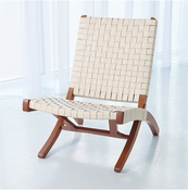Studio A by Global Views Safari Chair-Ivory