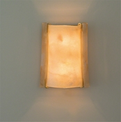 Studio A by Global Views Scavo Scroll Sconce-Antique Brass-Hardwired