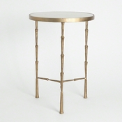 Studio A by Global Views Spike Accent Table w/ White Marble