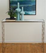 Studio-A by Global Views Spike Console-Antique Nickel w/White Marble
