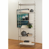 Studio-A by Global Views Spike Etagere-Antique Nickel w/White Marble