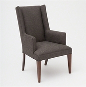 Studio-A by Global Views Straight Wing Arm Chair-Alvaro Grey