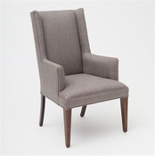 Studio-A by Global Views Straight Wing Arm Chair-Margo Pewter