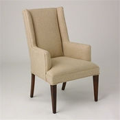 Studio-A by Global Views Straight Wing Arm Chair-Protege Grid Natural