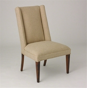 Studio-A by Global Views Straight Wing Side Chair-Protege Grid Natural