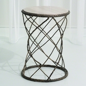 Studio-A by Global Views Tango Accent Table-Bronze