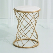 Studio-A by Global Views Tango Accent Table-Gold Leaf
