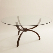 "Studio A by Global Views Teton Table & 60"" Top"