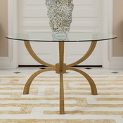 "Studio-A by Global Views Teton Table-Gold-60"" Top"