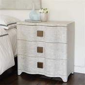 Studio-A by Global Views Toile Linen Bedside Chest