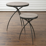 Studio-A by Global Views Tripod Table w/Grey Marble Top-Small