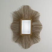 Studio-A by Global Views Venice Wire Mirror-Antique Gold & Brass Braising