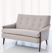 Studio-A by Global Views Watson Loveseat-Margo Steel