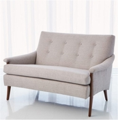 Studio-A by Global Views Watson Loveseat-Muslin