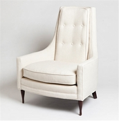 Studio-A by Global Views Wayne Chair-Ivory