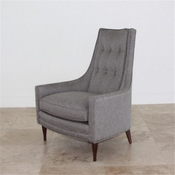 Studio-A by Global Views Wayne Chair-Margo Pewter