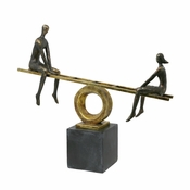 Teeter-Totter Figurine Black and Gold