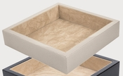 Tizo 7 X 7 Tray Shagreen White